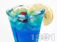 Коктейл Синята Лагуна (Blue Lagoon)